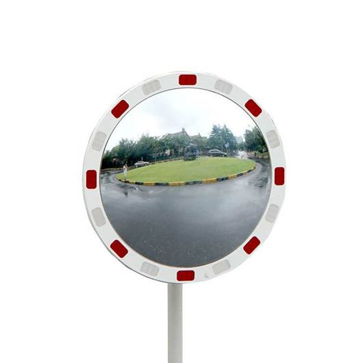 Picture of Circular Traffic Mirrors with Reflective Edges